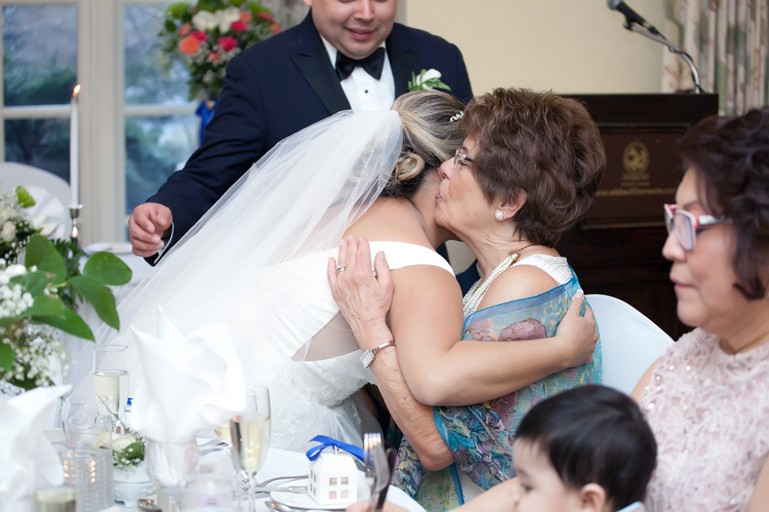 guests mingling wedding reception