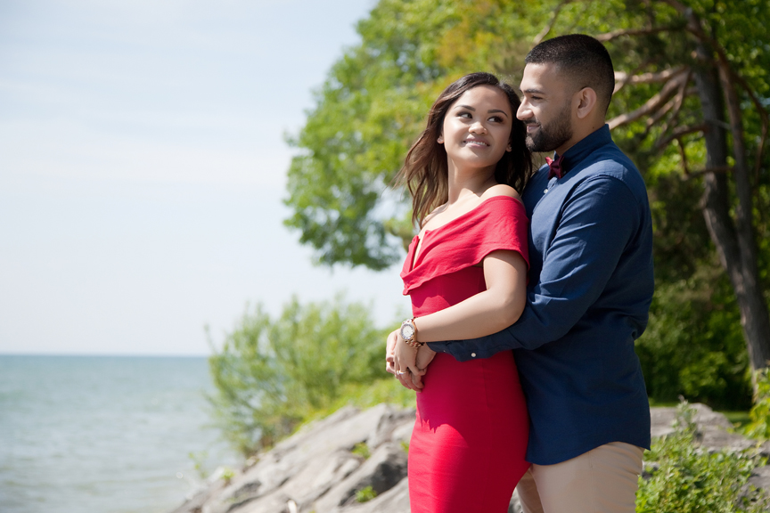 waterfront engagement shoot
