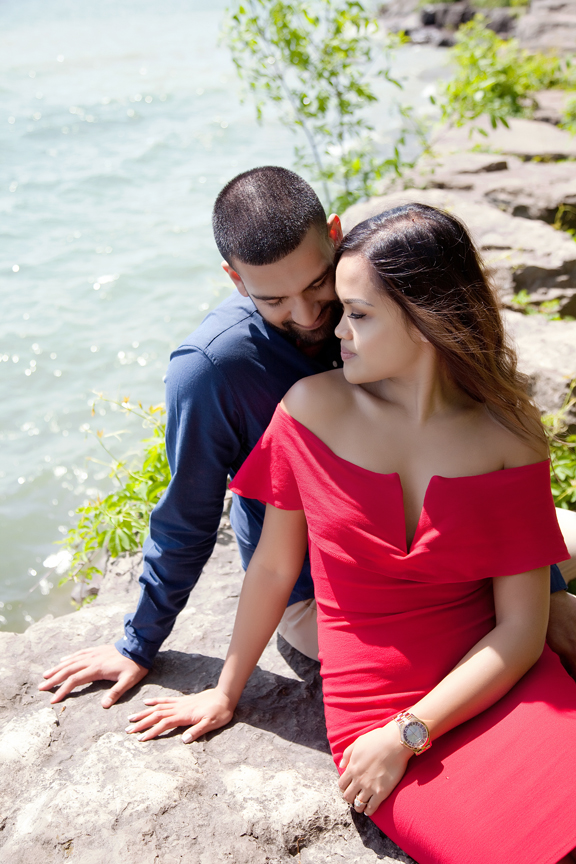 beautiful engagement shoot by waterfront