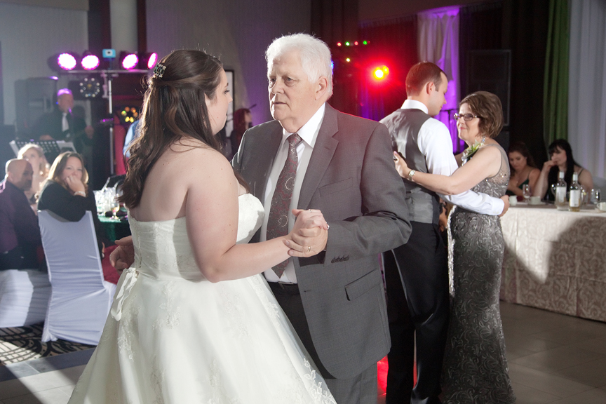 father daughter dance wedding reception at Ajax Convention Centre