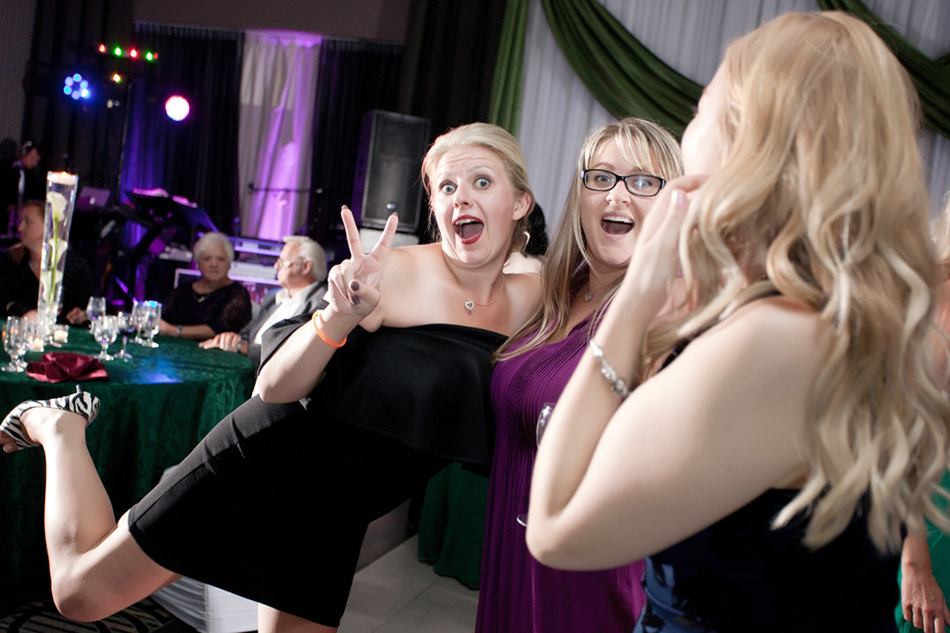 dance party wedding reception at Ajax Convention Centre