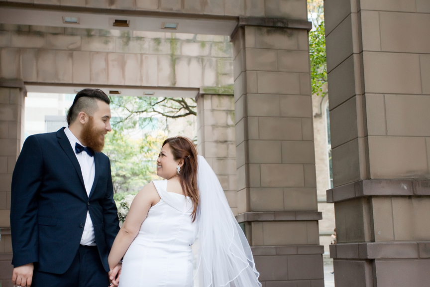 married couple at Trinity Square