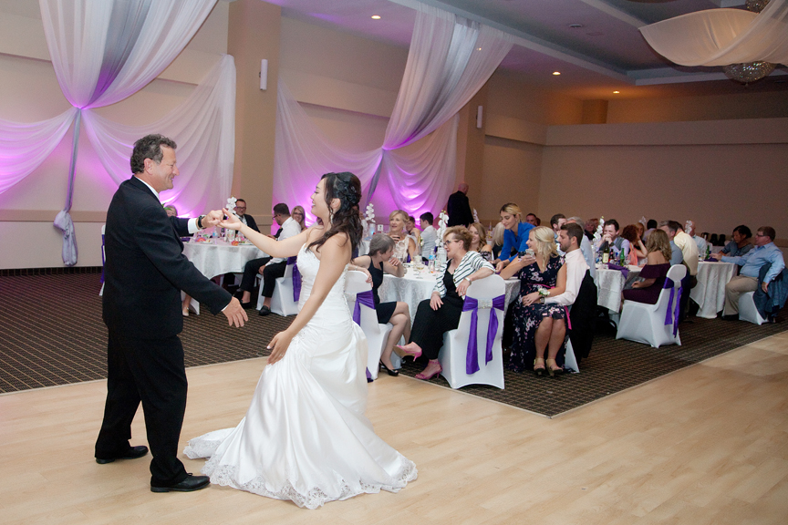 father daughter dance wedding reception at Trinity Banquet Hall