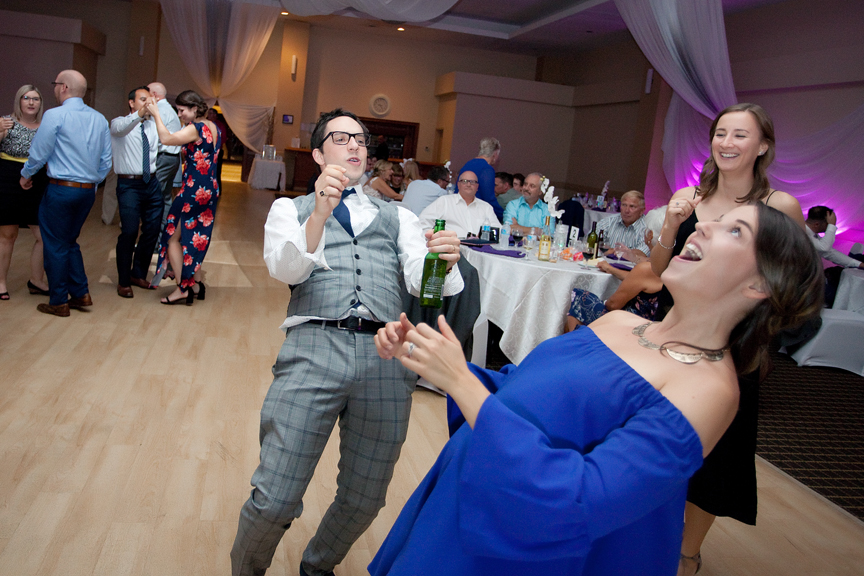 dance party wedding reception at Trinity Banquet Hall