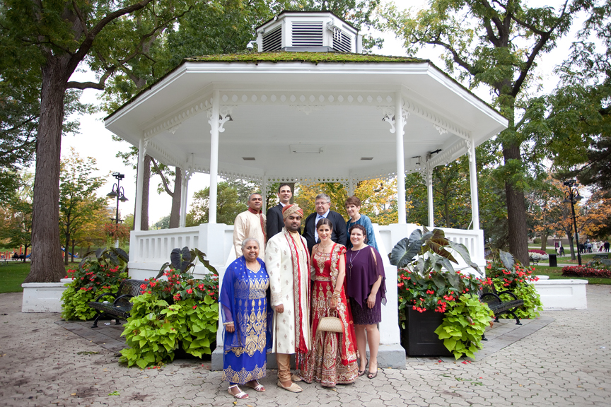 family portrait at Gage Park Indian Wedding