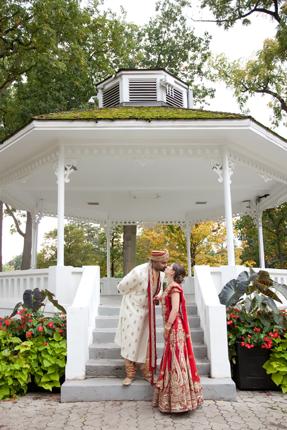 married couple portrait at Gage Park Indian Wedding