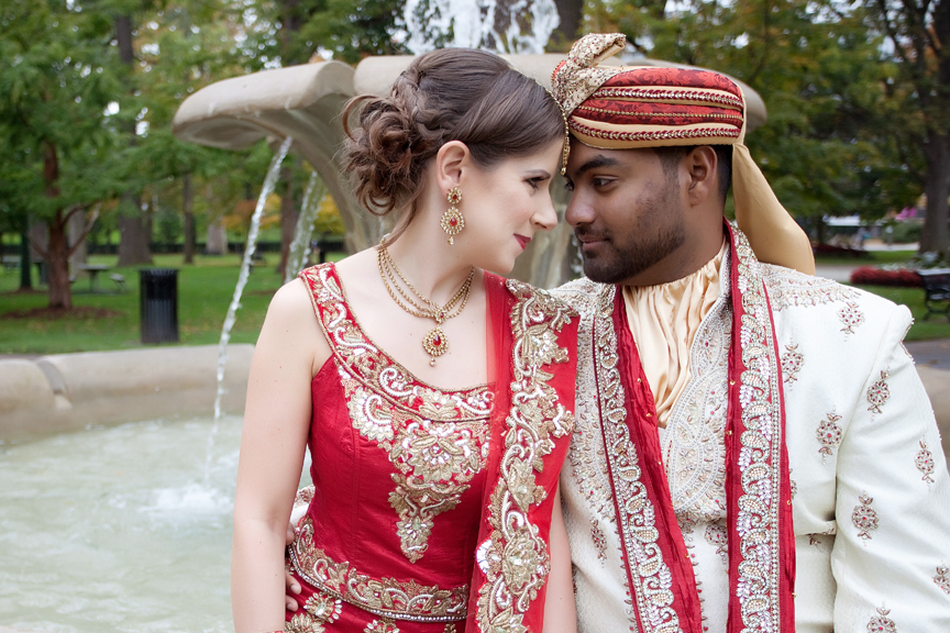 married couple at Gage Park Indian Wedding