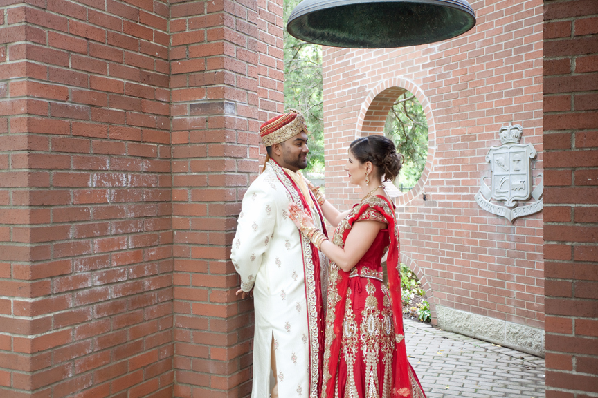 bride and groom at Gage Park Indian Wedding