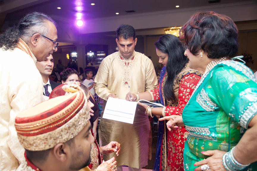 signing marriage certificate Hindu wedding ceremony at Bombay Palace