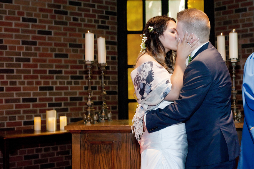 first kiss wedding ceremony at Old Mill Toronto