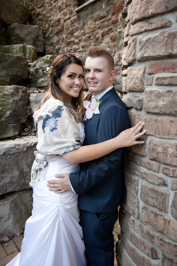lovely couple wedding portrait at Old Mill Toronto