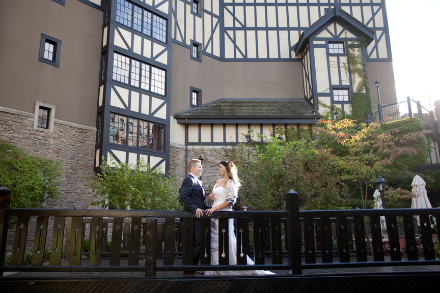 bride and groom wedding portrait at Old Mill Toronto