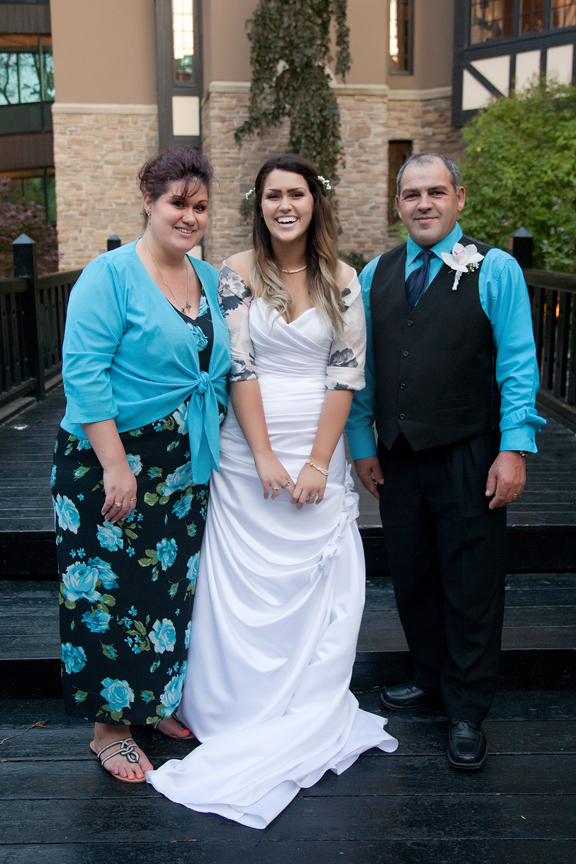 family wedding portrait at Old Mill Toronto