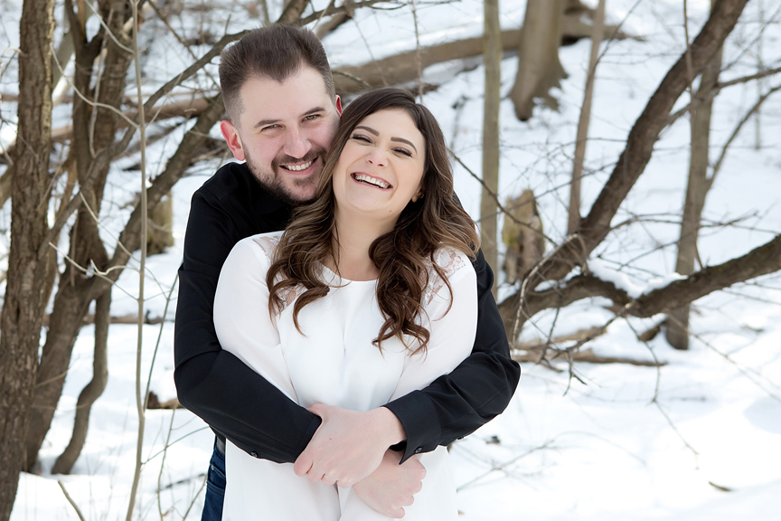 winter wedding portrait couple