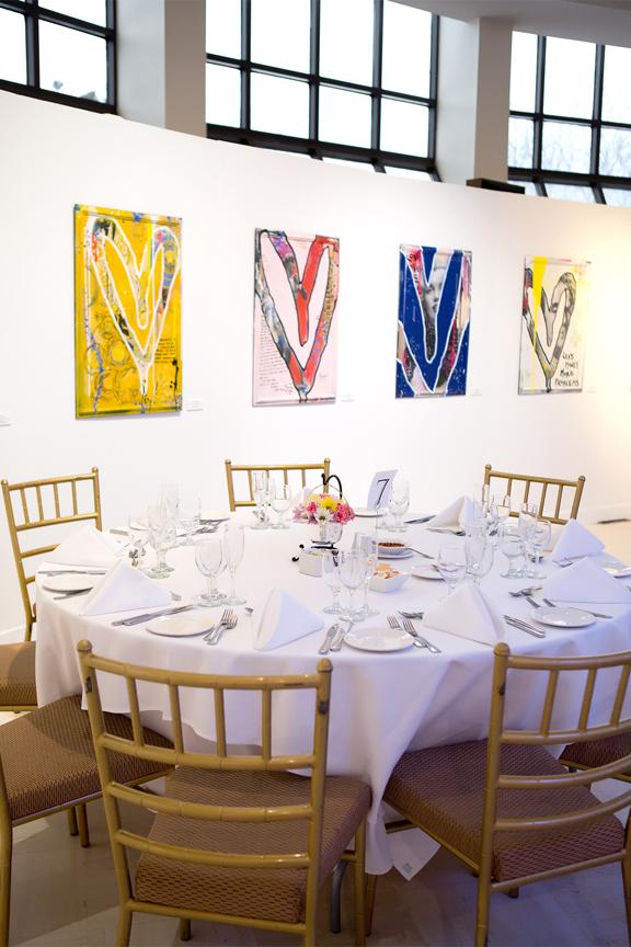 Columbus Centre Jewish wedding reception decor