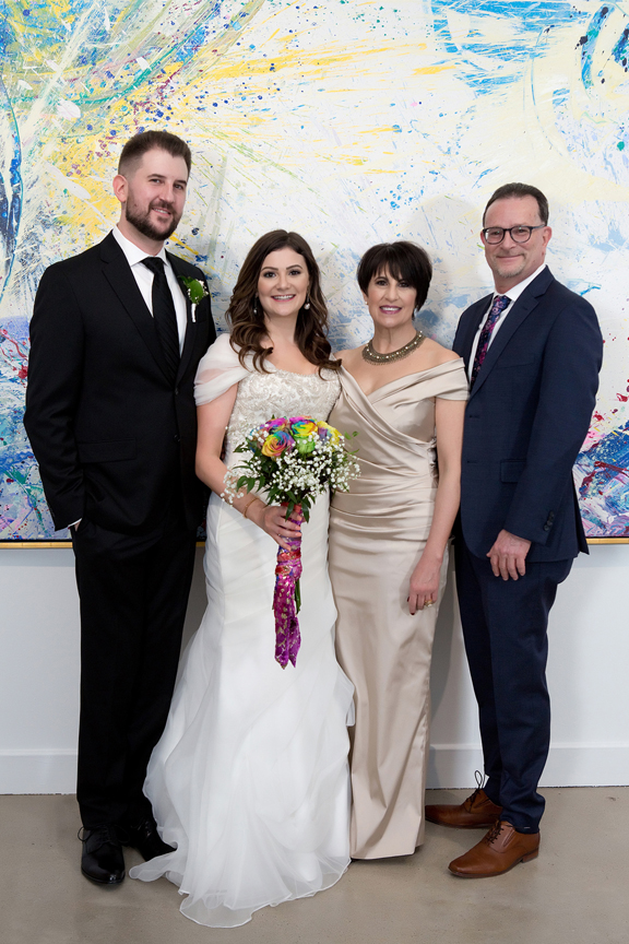 Columbus Centre Jewish wedding portrait family