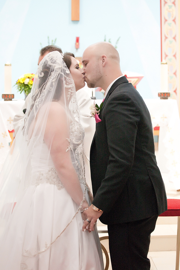 kiss wedding ceremony at St Hedwig Parish