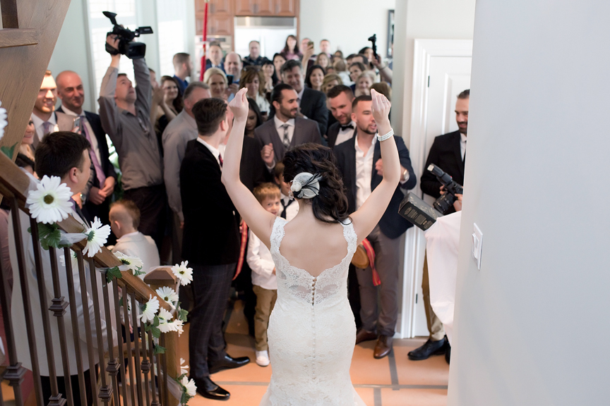 bride's arrival Serbian wedding dancing party Mississauga Grand