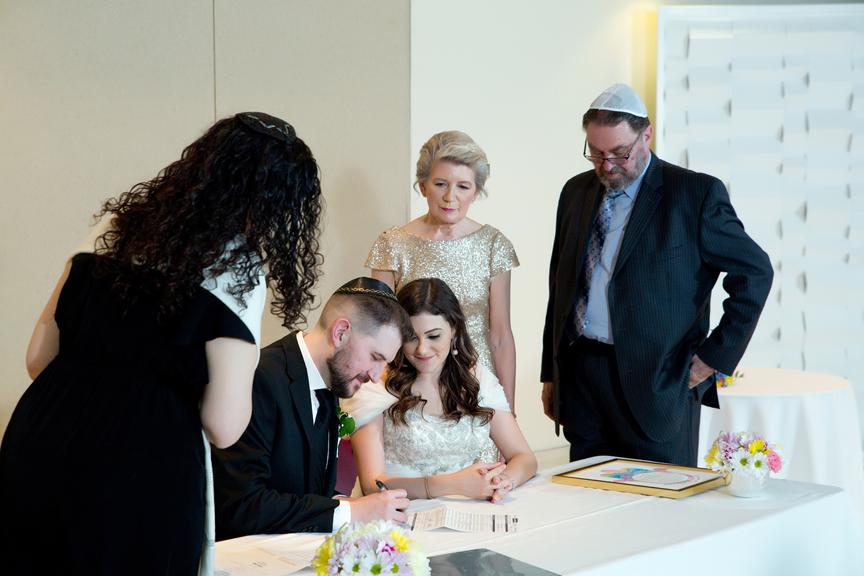 Columbus Centre Jewish wedding ceremony ketubah