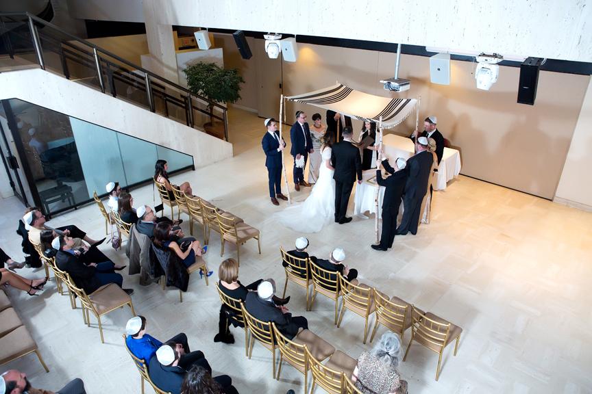 Columbus Centre Jewish wedding ceremony