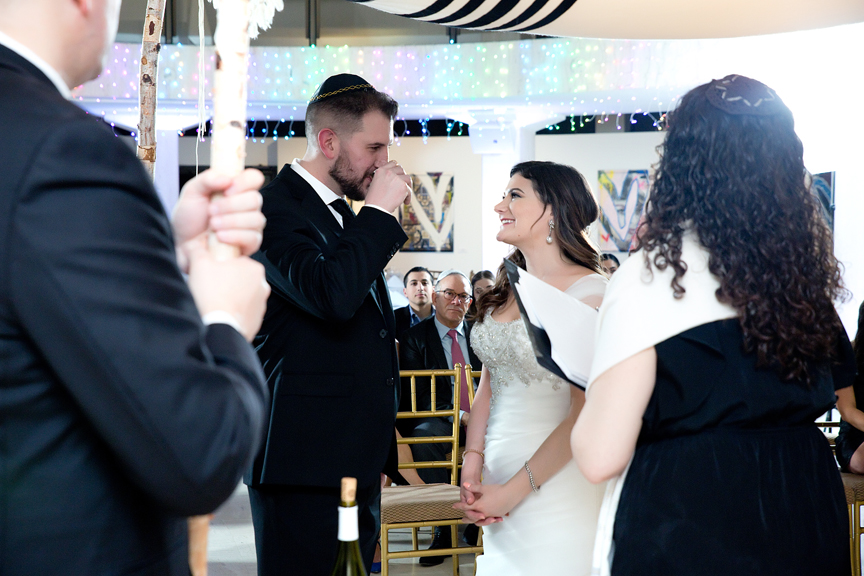 Columbus Centre Jewish wedding ceremony wine