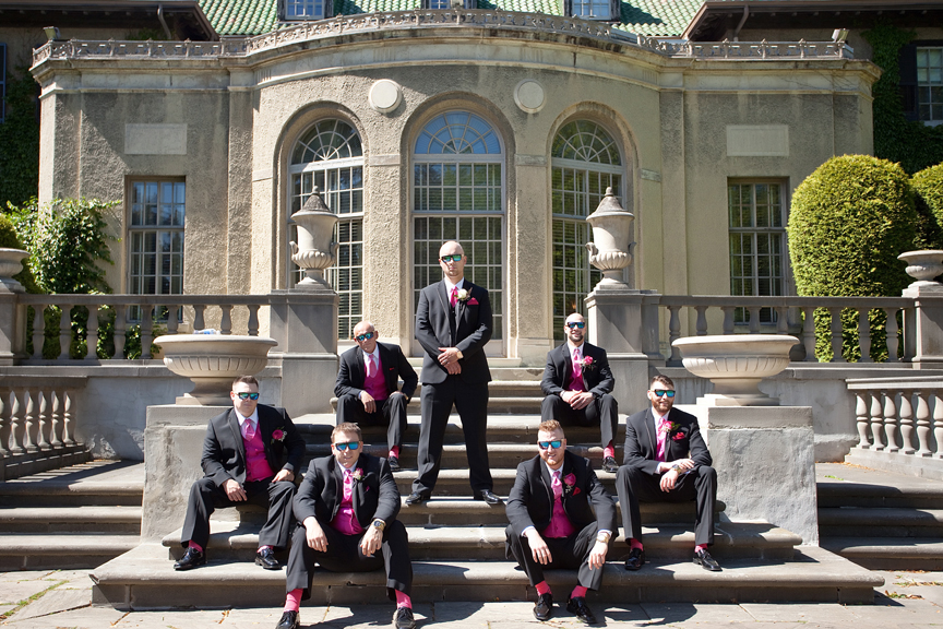 groomsmen wedding portrait at Parkwood Estate