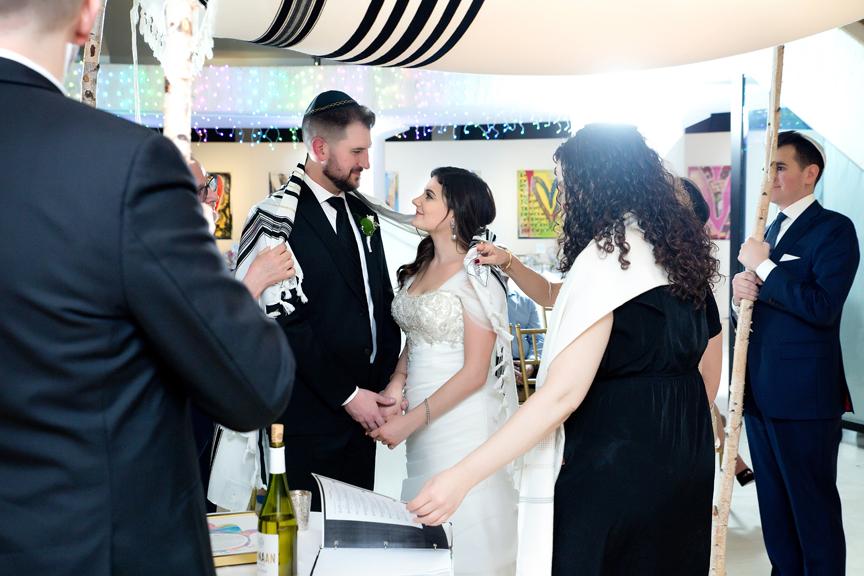 Columbus Centre Jewish wedding ceremony draping