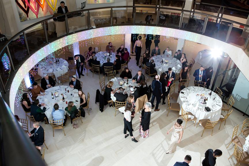 Columbus Centre wedding reception cocktail hour