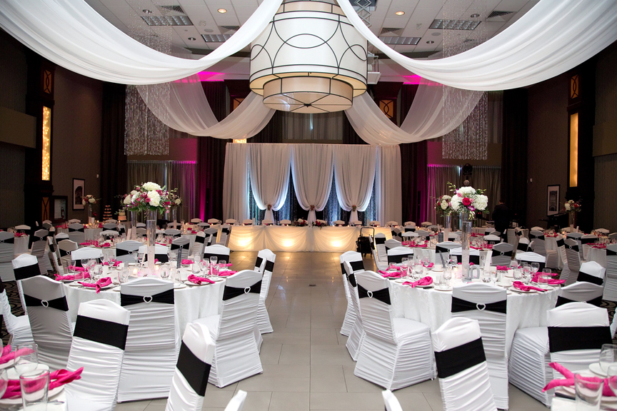 hall decor wedding reception at Ajax Convention Centre