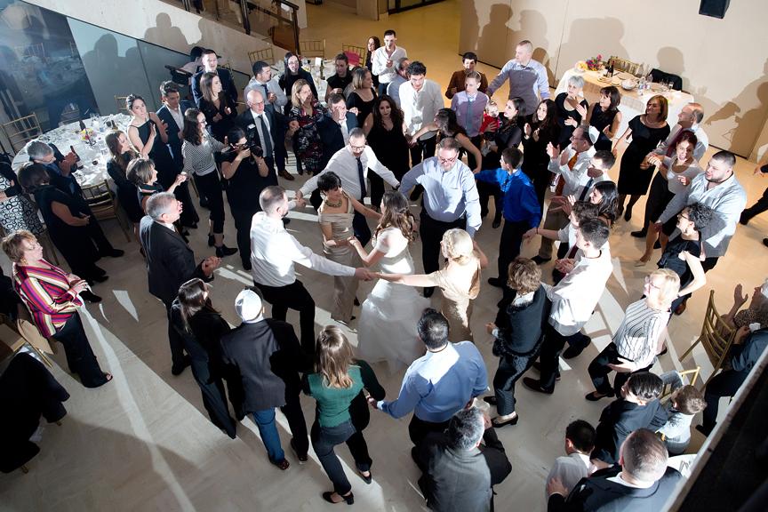 Columbus Centre Jewish wedding reception dancing