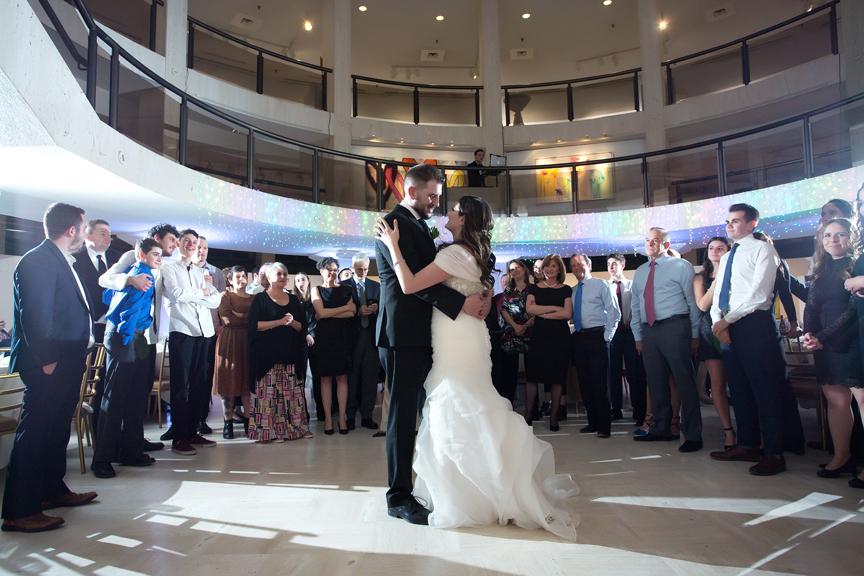 Columbus Centre wedding reception first dance