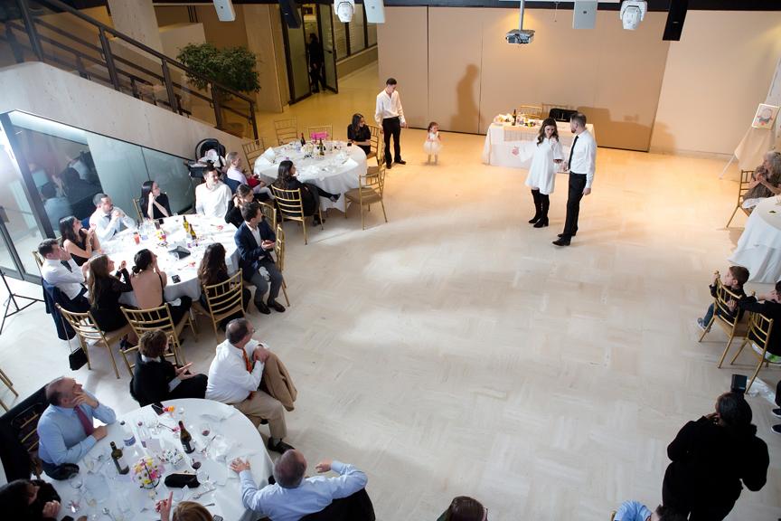 Columbus Centre wedding reception speech