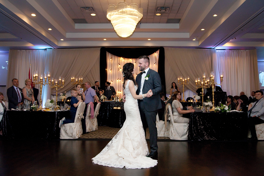 first dance wedding reception at Mississauga Grand