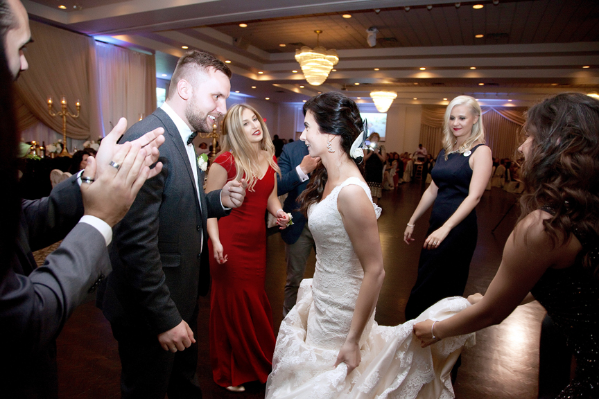 bride and groom dancing wedding reception at Mississauga Grand