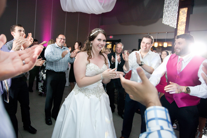 bride dance party wedding reception at Ajax Convention Centre