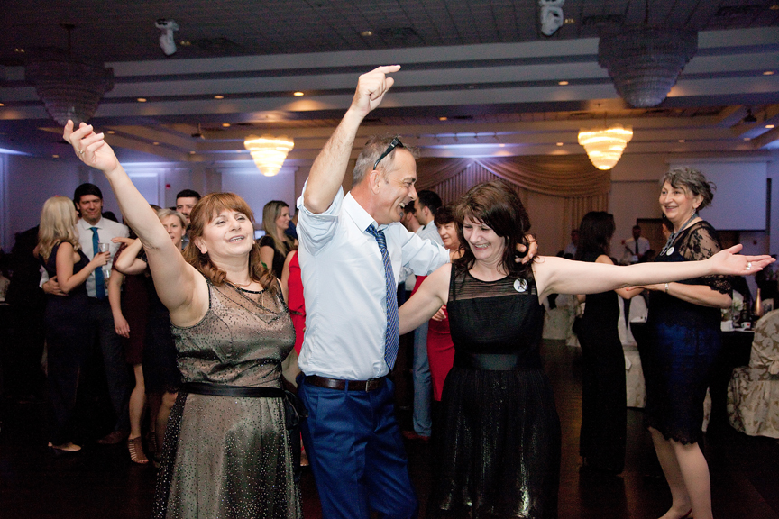 dance party wedding reception at Mississauga Grand