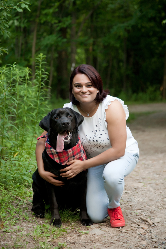 tenth anniversary portrait session with dog