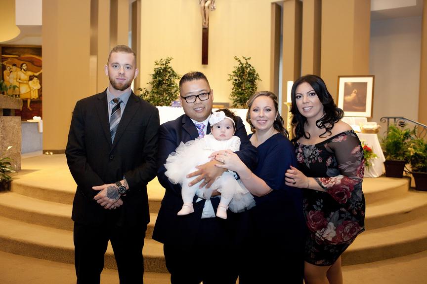 Milestone Event Photography Baptism at St Peter's Roman Catholic Church god parents