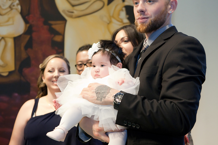 Milestone Event Photography Baptism at St Peter's Roman Catholic Church with god father