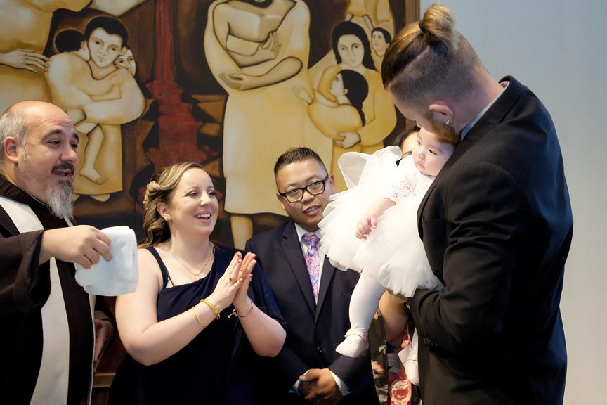 Milestone Event Photography Baptism at St Peter's Roman Catholic Church
