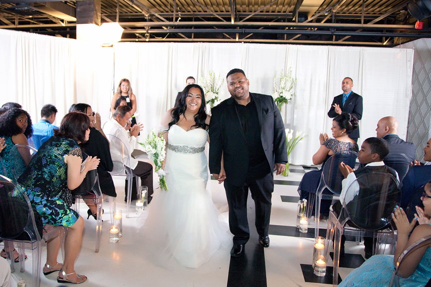 recession wedding ceremony at Canvas Event Space