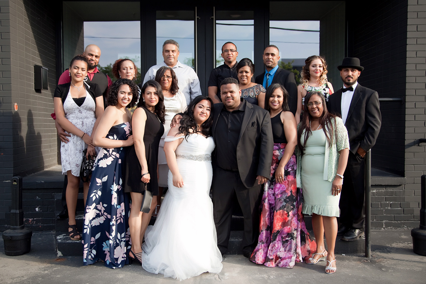 family portrait wedding reception at Canvas Event Space