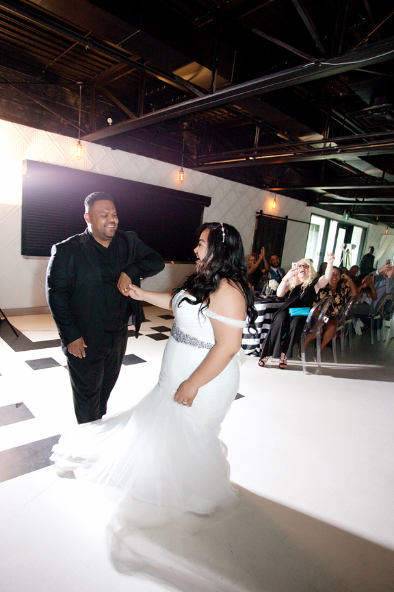first dance wedding reception at Canvas Event Space