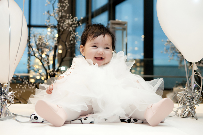 Baptism party at Universal EventSpace baby solo portraits