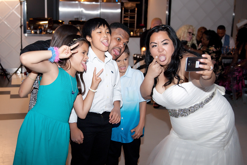 selfie wedding reception at Canvas Event Space