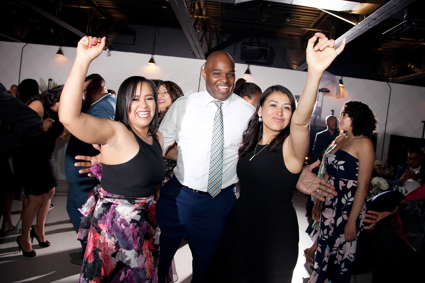 dance party wedding reception at Canvas Event Space