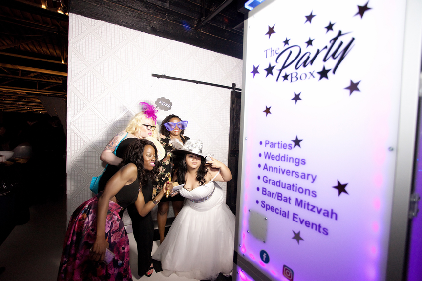 photo booth wedding reception at Canvas Event Space