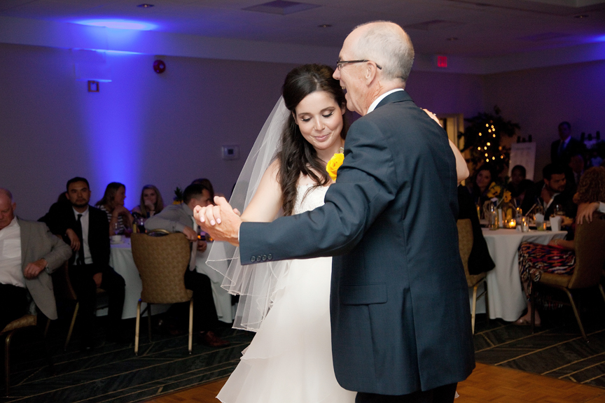 father daughter dance wedding reception