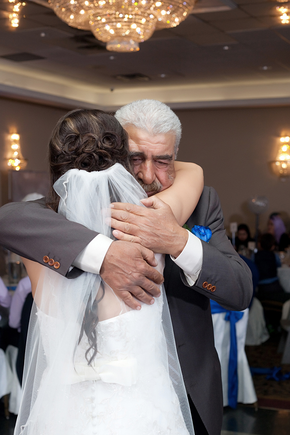 father daughter dance wedding reception at The Grand Olympia