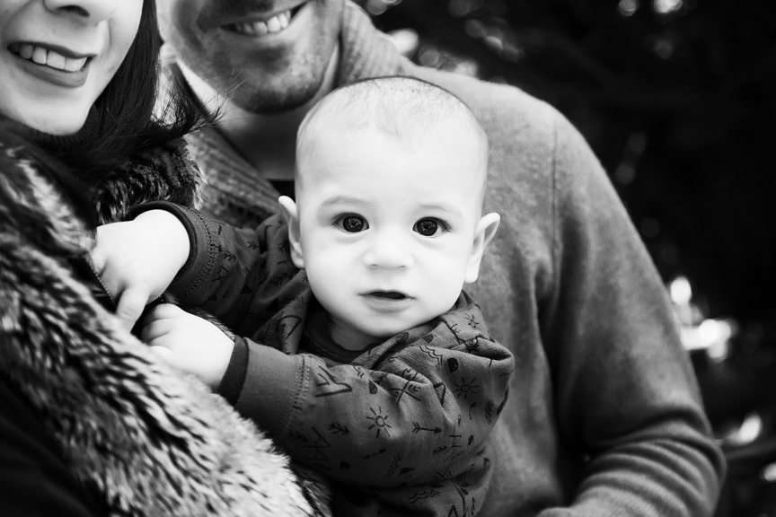 outdoor milestone portrait happy baby